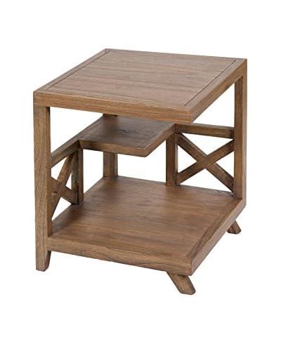 Colonial Style Tavolino Bistro Amara Marrone