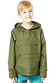 Hooded Funnel Neck Foldaway Jacket with Stormwear™