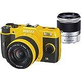 "Pentax Q7 Appareil photo hybride 3"" (7,62 cm) 12 Mpix Jaune + Objectif 5 -15 mm + 2 Objectif 15 - 45 mm"