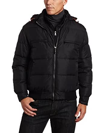 Hawke & Co Men's Mayer Puffer With Hood Jacket, Black, Small