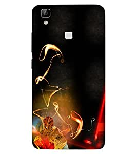 ColourCraft Printed Design Back Case Cover for VIVO V3 MAX