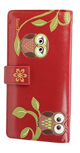shagwear-jeune-fille-portefeuille-hibou-rouge-37-bentley-owls-large-pursewalt-0606z