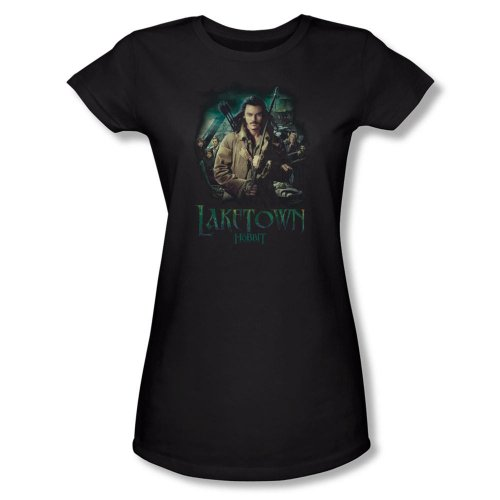 Warner Bros. Women's The Hobbit: The Desolation of Smaug Bard Fitted T-Shirt