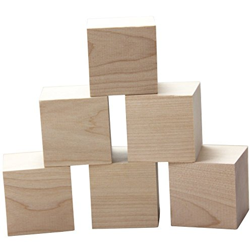 2 inch wood cubes natural unfinished craft wood blocks woodpeckers toys games toys. Black Bedroom Furniture Sets. Home Design Ideas