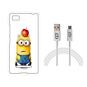 Designer Hard Back Case for Mi 4i with 1.5m Micro USB Cable