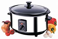 Morphy Richards 48710 Oval Slow Cooker, 3.5 Litre, Stainless Steel by Morphy Richards
