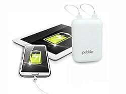Pebble PPC60AUC 6000mah Universal Pocket Charge Power bank (White)