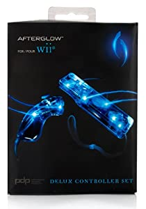 Wiimote + Nunchuck Afterglow pour Wii
