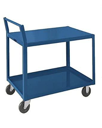 "SPG GLD Gillis/Jarke Steel Service Cart, 2 Shelves, Gray, 1000 lbs Load Capacity, 31"" Height"