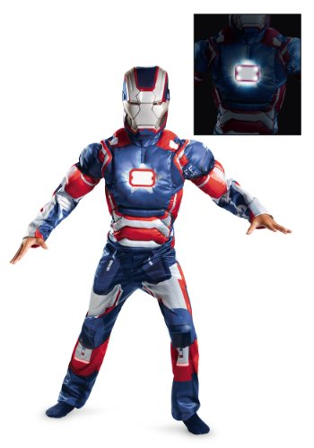 Disguise Marvel Iron Man Movie 3: Iron Patriot Boys Muscle Light Up Costume