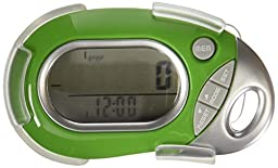 Pedusa PE-771 Tri-Axis Multi-Function Pocket Pedometer (Green with Holster/Belt Clip)