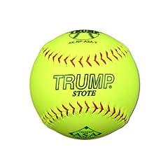 Buy 1 Dozen ASA Trump Stote 12 Softballs - 52cor .300 Compression (AK-RP-ASA-Y) 12 Balls by Trump/Evil Sports