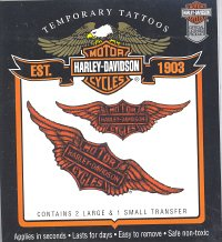 Buy Harley Davidson Motor Cycle Temporary Tattoos