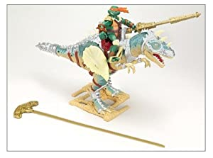 Teenage Mutant Ninja Turtles Dino Runner Aliosaurus w/ Michelangelo