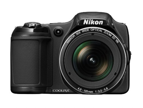 Nikon COOLPIX L820 16 MP CMOS Digital Camera with 30x Zoom Lens and Full HD 1080p Video (Black)