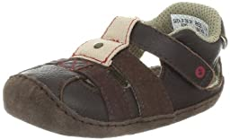 Stride Rite Crawl Catch Of The Day Sandal (Infant/Toddler),Espresso/Red,1 M US Infant