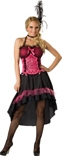 Incharacter Costumes, Llc Saloon Gal 2B Adult Dress, Black/Pink, Medium