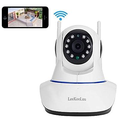 LeeKooLuu® 720P Wireless WiFi Home Security Surveillance IP Camera Built-in Microphone,Pan/Tilt with 2-Way Audio Night Vision