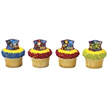 12 ct Marvel Comic Super Hero Team Cupcake Rings