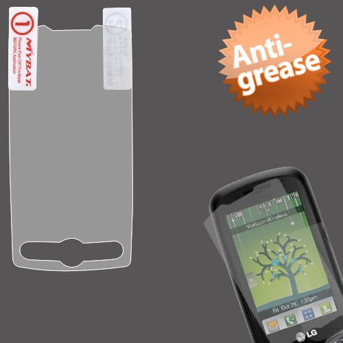 Cell Accessories For Less (Tm) Lg 505C Anti-Grease Lcd Screen Protector/Clear + Bundle (Stylus & Micro Cleaning Cloth) - By Thetargetbuys