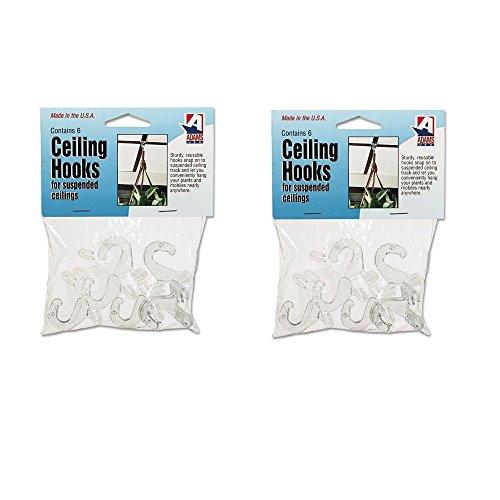 Adams 1900993241 Clear Plastic Ceiling Hooks, 5/16 x 3/4 x 1-3/8, 6 Hooks/Pack flower choker velvet necklace