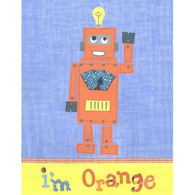 The Little Acorn Wall Art, Orange Robot - 1