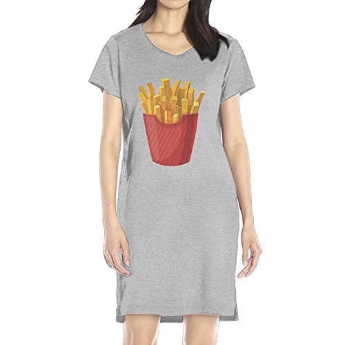 AIJFW French Fries Women's V-neck Mini Dress (Fry Boots Red compare prices)