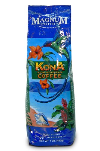 Magnum Exotics Kona Blend Coffee, Ground, 16