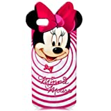 Disney Smile Minnie Mouse iphone 5 and 5G Thick Silicone Hard Gel TPU Back Case Cover