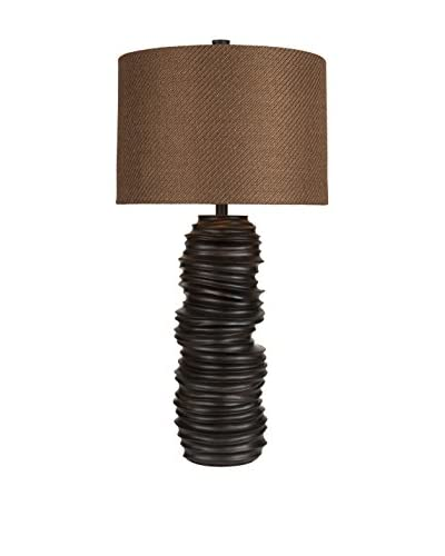 Surya Stacked Table Lamp, Oil Rubbed Bronze