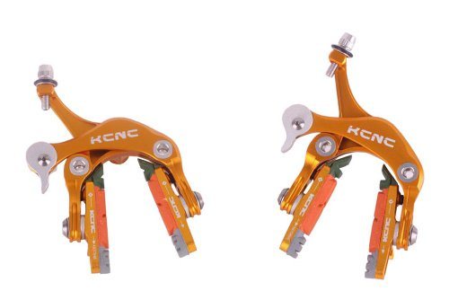 Buy Low Price KCNC CB1 Road Bike Brake Caliper Set Alloy 7075 Gold 164g pair (MKcCaCB1G)