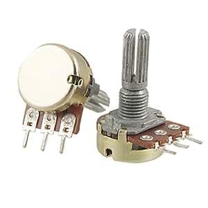 2 Pcs B200K 200K ohm Single Linear Taper Ratory Potentiometers
