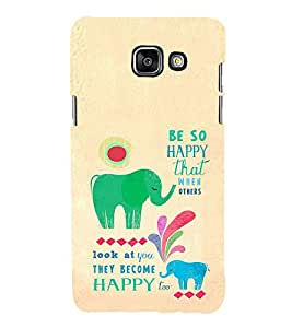 EPICCASE Be so happy Mobile Back Case Cover For Samsung Galaxy A5 (2016) (Designer Case)