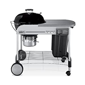 Weber 1481001 Performer Platinum Charcoal Grill, Black