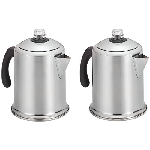 Farberware 8-Cup Stainless Steel Percolator Model 50124 - 2 Pack (Farberware Percolator Filters compare prices)