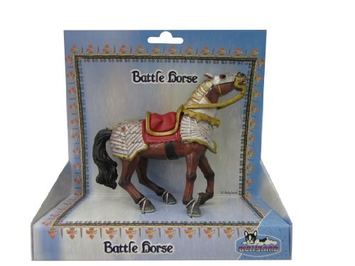 Bullyland Knights: Battle Horse with Red Saddle