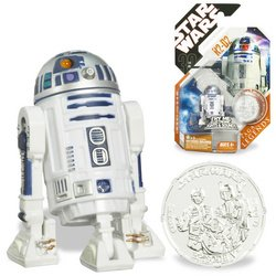 41H7ZmA3iVL Cheap Buy  Star Wars Basic Figure R2 D2 w/ Electronic Light and Sound   30th Anniversary TAC Saga Legends w/ Coin