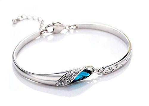 Fashion Jewelry Women's Bracelet Wristband Bangle Stainless Steel Gem Metal