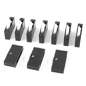 10 stk ersatz kunststoff schwarz wei rollen rad f r t typ. Black Bedroom Furniture Sets. Home Design Ideas