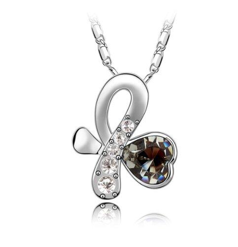 Boxingcat Fine Jewelry Swarovski Style Clear Austrian Crystal Pendant Necklaces Bgca4974 front-1005505