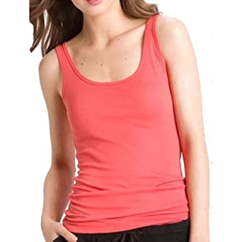 "22"" Basic Muscle Regular Ribbed Tank Top Quality Cotton Stretch (Small, Oatmeal)"