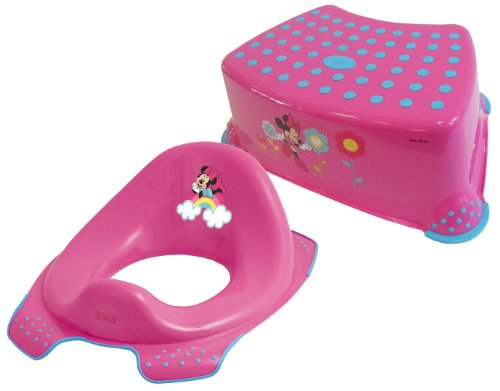 Disney Minnie Mouse Toddler Toilet Training Seat & Step Stool Combo - Pink