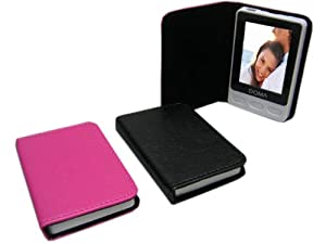 (Set of 2) High Quality 2.5 Digital Photo Viewer (Black, Dark Pink) w/ Gift Box