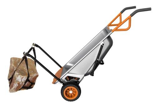 WORX Aerocart Multifunction 2-Wheeled Yard Cart, Dolly, and Wheelbarrow with Flat Free Tires – WG050