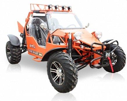 BMS Sand Sniper 1000 ORANGE Gas 4 Cylinder 2 Seat Dune Buggy Go Kart