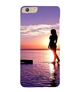 EPICCASE Walk on the beach Mobile Back Case Cover For Micromax Canvas Knight 2 E471 (Designer Case)