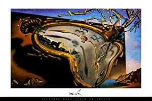Soft Watch at the Moment of First Explosion, c.1954 Poster Print by Salvador Dalí, 36x24 Poster Print by Salvador Dalí, 36x24