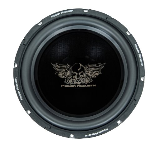 "Power Acoustik Pen-12W 4 Ohm 12"" Subwoofer 800 Watts Max Butyl-Rubber Surround 40Oz Magnet W/ Vented Back Plate"