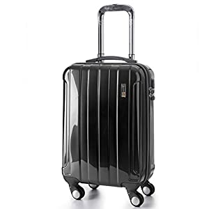 "5 Cities® Lightweight Hard shell Travel Luggage Suitcase- 4 Wheel Spinner Trolley Bag 21"" Fits 55x40x20cm, 26"" 63x48x28cm, 29"" 73x56x32cm (5 Years Guarantee)"