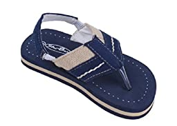 Brand New Toddlers Thong-Style Navy Sandals Size 6